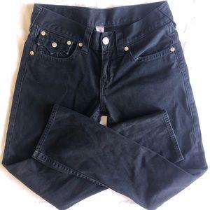 True Religion Black Jeans 30 Straight Leg EUC